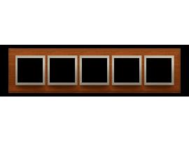 Rámček 5 - krát drevený Orech/zlato