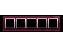 Rámček 5 - násobný sklenený slivková