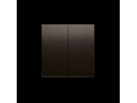 Kryt dvojitý pre dvojitý striedavý prepínač SW6/2M hnedá matná
