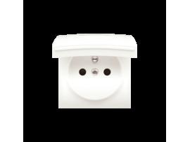 Kryt zásuvky s uzemnením - pre verziu IP44 - klapka vo farbe krytu krémová