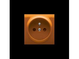 Kryt jednoduchej zásuvky s uzemnením oranžový