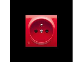 Kryt jednoduchej zásuvky s uzemnením antibakteriálny červený