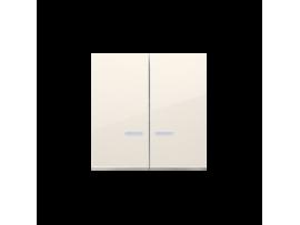 Kryt dvojitý s priezorom pre spínače a tlačidlá s orientačným podsvietením krémová