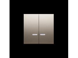 Kryt dvojitý s priezorom pre spínače a tlačidlá s orientačným podsvietením zlatá matná