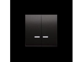 Kryt dvojitý s priezorom pre spínače a tlačidlá s orientačným podsvietením antracitová