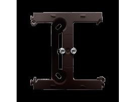 Krabica pre povrchovú montáž  - element rozširujúci jednotuchú krabicu pre viacnásobné rámčeky čokoládový mat. metalizovaný