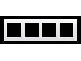 Rámček 4- násobný antibakteriálna biela