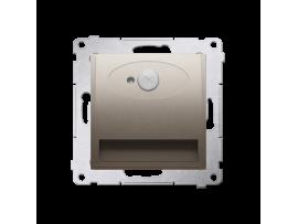 LED svietidlo, s pohybovým senzorom, 14V zlatá matná