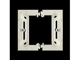Jednoduchá, skladacia povrchová krabica béžový