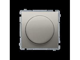 Stmievač pre stmievateľné LED, tlačidlovo-otočný, jednopólový saténový, metalizovaný V schodiskovom systéme:Áno