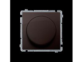 Stmievač pre stmievateľné LED, tlačidlovo-otočný, jednopólový čokoládový mat. metalizovaný V schodiskovom systéme:Áno