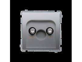 Anténna zásuvka DATA-TV tlm.:5dB strieborná matná