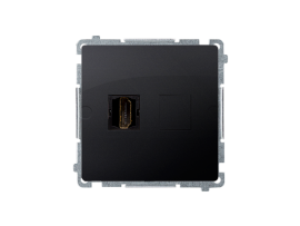 Zásuvka HDMI jednoduchá grafit mat. metalizovaný