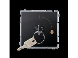 """Spínač na kľúč (tlačidlo) 2 polohový """"0-I"""" (prístroj s krytom) 5A 250V, pre spájkovanie, grafit mat. metalizovaný"""