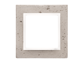 Rámček 1 - násobný betonový Svetlý betón/biela