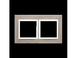 Rámček 2 - násobný betonový Svetlý betón/biela