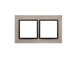 Rámček 2 - násobný betonový Svetlý betón/antracit
