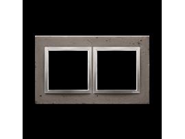 Rámček 2 - násobný betonový Tmavý betón/striebro