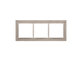 Rámček 3 - násobný betonový Svetlý betón/biela