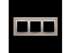 Rámček 3 - násobný betonový Svetlý betón/striebro