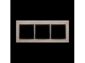 Rámček 3 - násobný betonový Svetlý betón/antracit