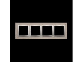 Rámček 4 - násobný betonový Svetlý betón/striebro