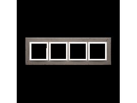 Rámček 4 - násobný betonový Tmavý betón/biela