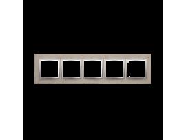 Rámček 5 - násobný betonový Svetlý betón/striebro