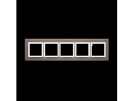 Rámček 5 - násobný betonový Tmavý betón/biela
