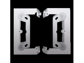 Krabica povrchová skladacia, jednoduchá strieborná matná