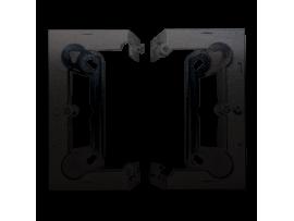 Krabica povrchová skladacia, jednoduchá antracitová