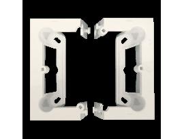 Krabica povrchová skladacia, jednoduchá krémová