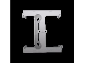 Krabica pre povrchovú montáž  - element rozširujúci jednotuchú krabicu pre viacnásobné rámčeky strieborná matná
