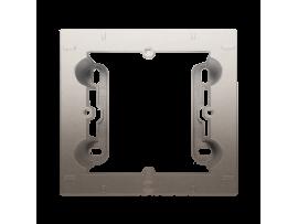Krabica pre povrchovú montáž 1- násobná zlatá matná