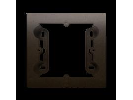 Krabica pre povrchovú montáž 1- násobná hnedá matná