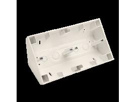 Rohová dvojitá povrchová krabica krémová