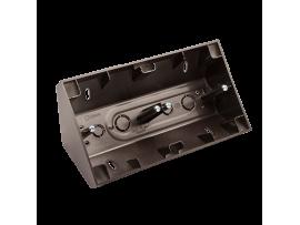 Rohová dvojitá povrchová krabica antracitová