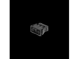Zásuvka samica GESIS® 3pólová zástrčka 16A 250V grafitovo-sivá