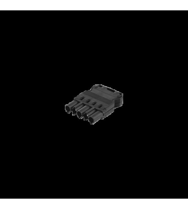 Zásuvka GESIS® 5pólový konektor 16A 400V grafitovo-sivá
