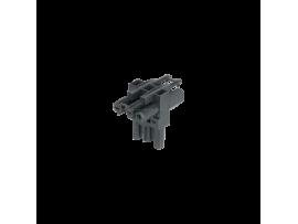 T spojka GESIS® 3pólová zástrčka 1x samčí, 2x samičí 16A 250V grafitovo-sivá