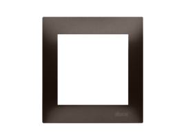 Rámček 1 - násobný pre sadrokartónové krabičky hnedá matná