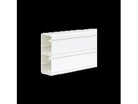 Inštalačný kanál CABLOPLUS PVC 130×55mm Počet komôr:2 dĺ.:2m čisto biela :IK07