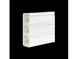 Inštalačný kanál CABLOPLUS PVC 185×55mm Počet komôr:3 dĺ.:2m čisto biela :IK07