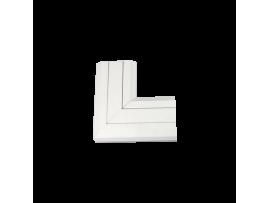 Uhol hore CABLOMAX 130×55mm čisto biela