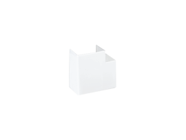 Uhol CABLOPLUS 90×55mm čisto biela