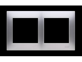 Rámček 2- násobný pre sadrokartónové krabičky strieborná matná