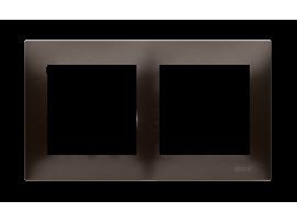 Rámček 2- násobný hnedá matná