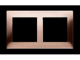 Rámček 2- násobný kovový rustikálna meď
