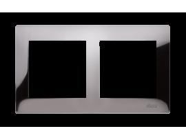 Rámček 2- násobný kovový tmavá oceľ