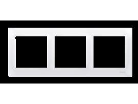 Rámček 3- násobný biela